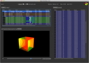 Qube! ArtistView is a specific product for Qube oriented at the 3D artists segment of production.