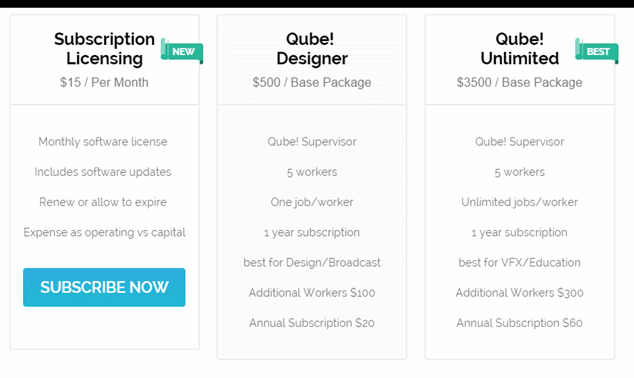 PipelineFX Introduces Monthly Pricing for Qube!