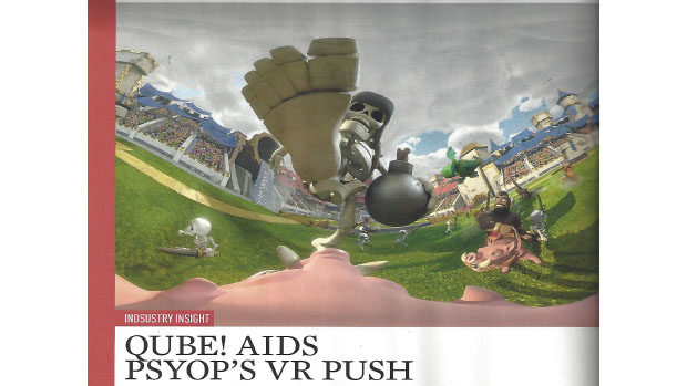 3D World: Qube! Aids Psyop's VR Push